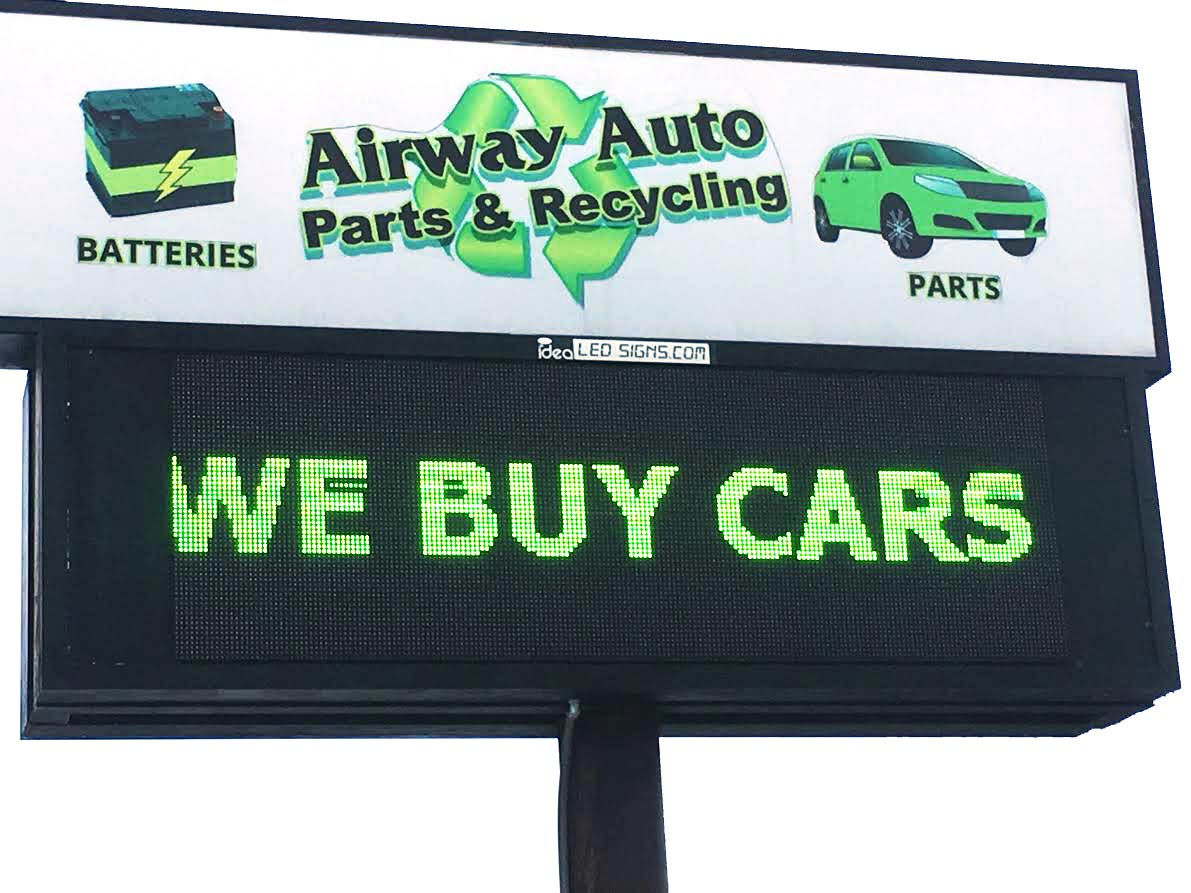 Our Sign, we buy cars!